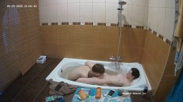 Deborah and Ian bath and blowjob, May 25