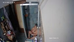 Marla shower and waterbate, June 17