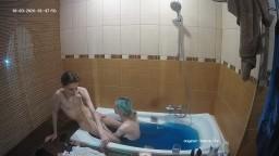 Deborah and Ian bath and blowjob, Oct 3