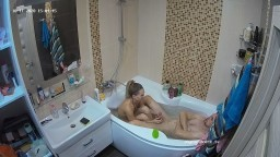 Anna and Alex bath and quick blowjob, Oct 11