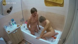 Tia and Eden bath, dildo play and waterbate, Oct 20