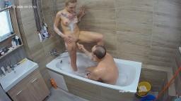 Jennifer and Bradley, bath, dildo play, sucking and sex, Nov 19