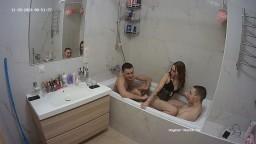Kathi Stewie and guest guy sexy bath, Nov 28