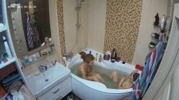 Mira and Anna bath, Feb 6