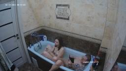 Freddy and Krista furry buttplug play and bath, Feb 19