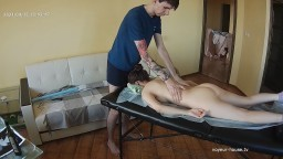 Jules massaging Bertha, April 15