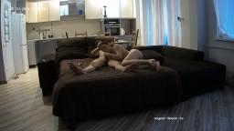 Hope and Jan blowjob on sofa, May 3