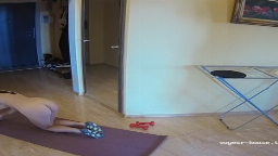 Bertha naked exercise in hallway, Aug16/21